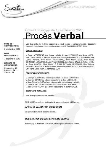 Procès Verbal - Sarzeau