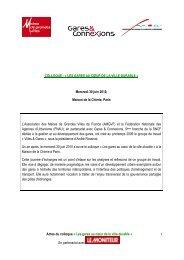 Actes du colloque « Les gares au cœur de la ville durable » En ...
