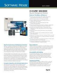 C•CURE 800/8000 v9.4 Data Sheet - Access Hardware Inc