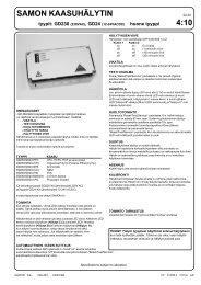 samon gd230.pdf - Oy Combi Cool Ab