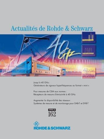 Actualites de Rohde & Schwarz