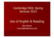 download presentation - Cambridge English Exams