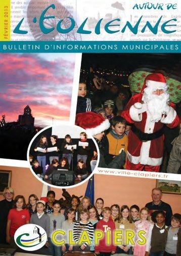 Bulletin municipal Jan 2013 - Mairie de Clapiers