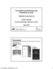 Conception parasismique des structures en acier Documents