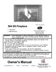 564 SS gas fireplace - Lopi