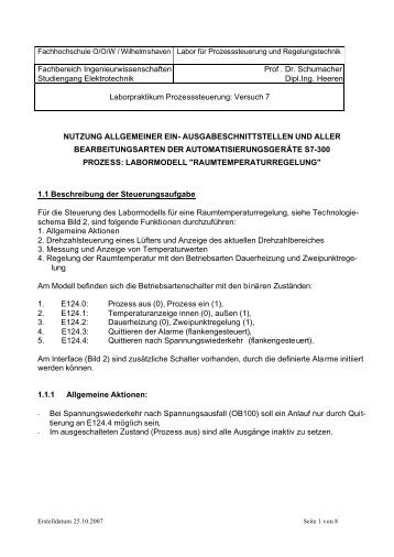 Fachbereich Ingenieurwissenschaften Studiengang Elektrotechnik ...