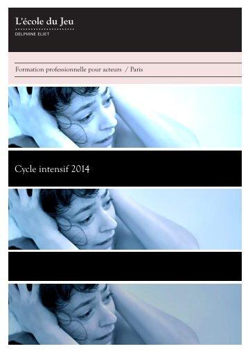 Cycle intensif 2014 - Ecole du jeu