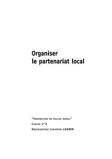 Organiser le partenariat local - Réseau wallon de Développement ...