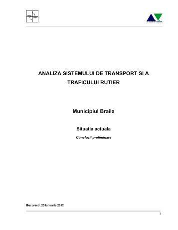 ANALIZA SISTEMULUI DE TRANSPORT SI A ... - Primaria Braila