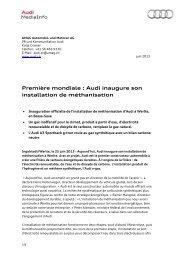 Première mondiale : Audi inaugure son installation de méthanisation