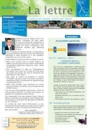 Assemblée générale - Syndicat Mixte de l'Ardèche Verte