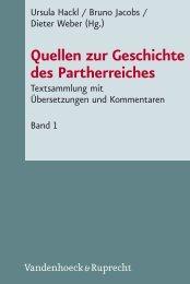 Quellen zur Geschichte des Partherreiches - Vandenhoeck & Ruprecht