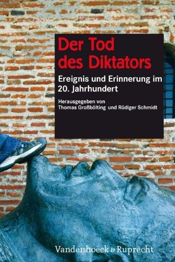 Der Tod des Diktators - Vandenhoeck & Ruprecht