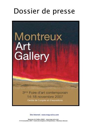télécharger le dossier de presse au format PDF - Montreux Art Gallery