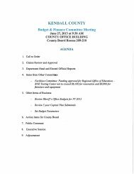 KENDALL COUNTY Budget & Finance Committee Meeting