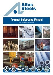 Atlas Steels Product Reference Manual
