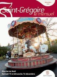 Saint-Grégoire, le Mensuel Décembre 2012