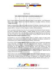 Boletín 002 (Historia de los Juegos) - Colegio Alemán - Cali