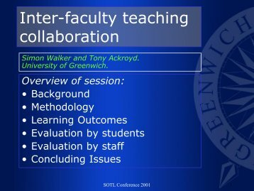 Collaborative learning - staffweb - University of Greenwich