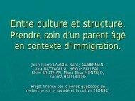 Prendre soin d'un parent âgé en contexte d'immigration
