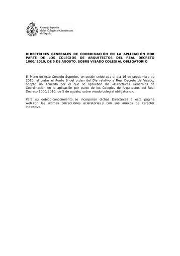 directrices generales - Colegio Oficial de Arquitectos Vasco-Navarro