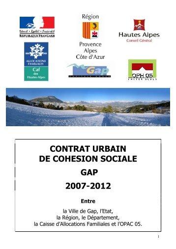 contrat urbain de cohesion sociale gap 2007-2012 - Ville de Gap