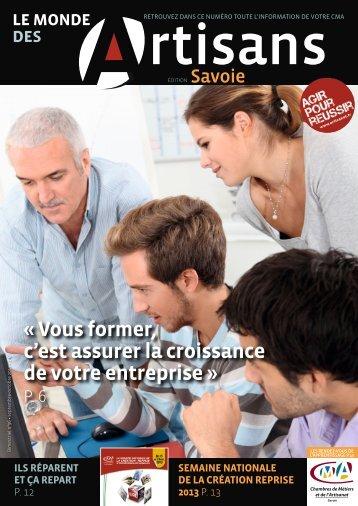 Le Monde des artisans en Savoie n°96 - Septembre / Octobre 2013