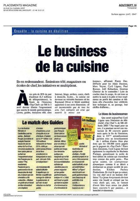 Le Match Des Guides Latelier Des Chefs