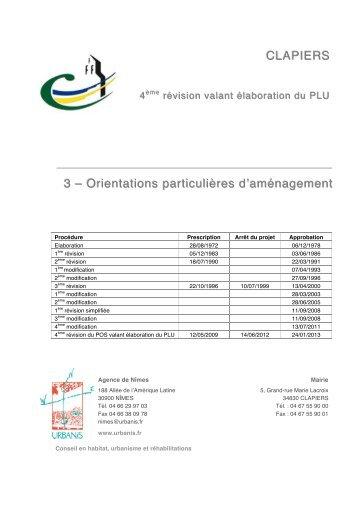 3 - Orientations d'aménagement - Mairie de Clapiers