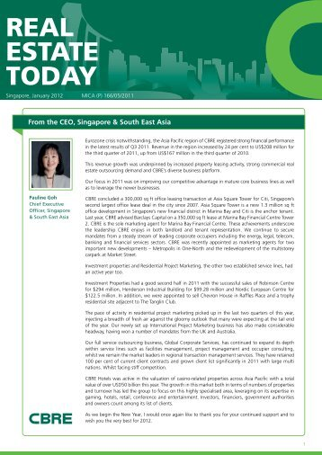 residential project marketing - CBRE SG