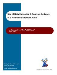 Use of Data Extraction & Analysis Software In a Financial Statement ...