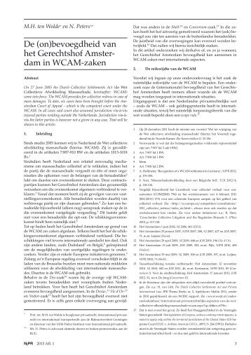 dam in WCAM-zaken - NIPR Online
