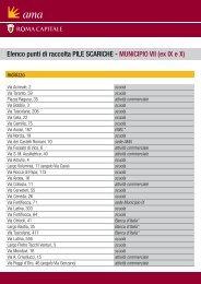 Elenco punti di raccolta PILE SCARICHE - MUNICIPIO VII (ex ... - Ama