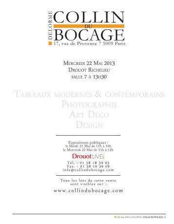 télécharger le catalogue (PDF) - CABINET D'EXPERTISE MARC ...