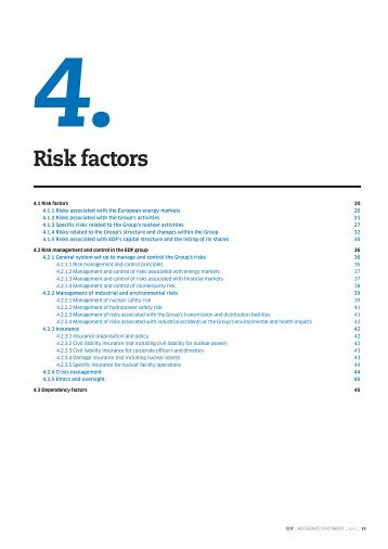 4. Risk factors (PDF, 234 Kb) - Shareholders and investors - EDF
