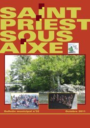 Octobre 2011 Bulletin municipal n°32 - Saint-Priest-sous-Aixe