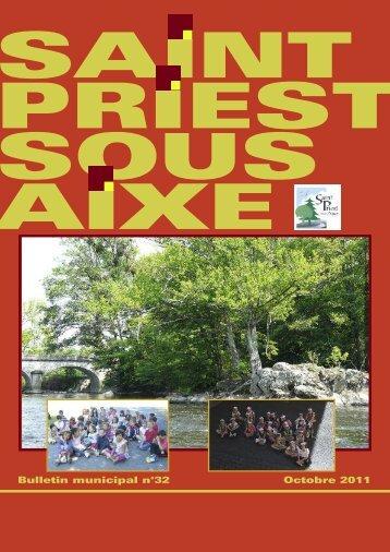 Octobre 2011 Bulletin municipal n°32 - Saint-Priest-sous-Aixe