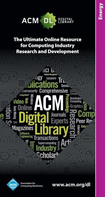 Energy - The ACM Digital Library