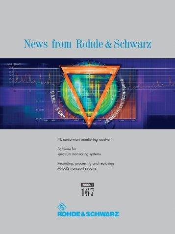 News from Rohde&Schwarz - Rohde & Schwarz