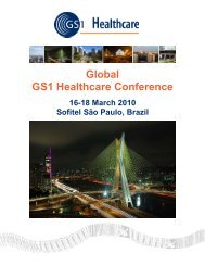 Global GS1 Healthcare Conference São Paulo, 16-18 March 2010