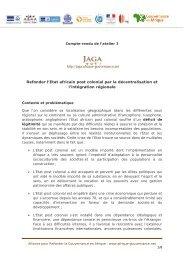 Refonder l'Etat africain post colonial par la décentralisation et l ...