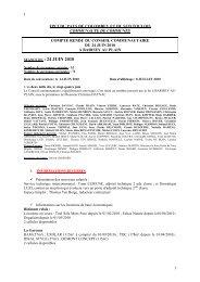 (57m²) ; EXOLAR (115m² à compter du 01/09/2010) - Communauté ...