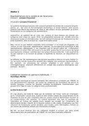 Atelier 1 Représentations de la société et de l'économie ... - cgt-insee