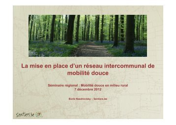La mise en place d'un réseau intercommunal de mobilité douce