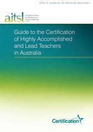 Guide to the Certification of Highly Accomplished and Lead ...