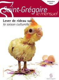 Saint-Grégoire, le Mensuel Septembre 2010