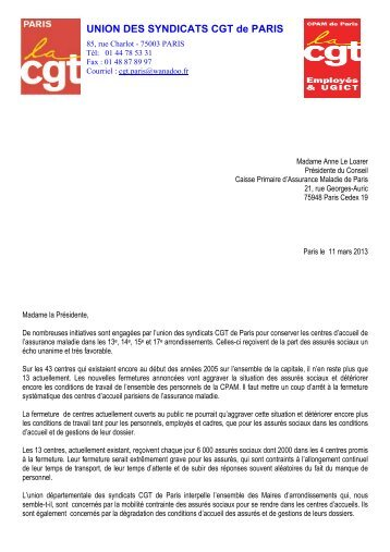 UNION DES SYNDICATS CGT de PARIS - PCF