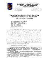 MINISTERUL SĂNĂTĂŢII PUBLICE - Direcţia de Sănătate Publică a ...