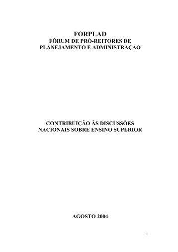 FORPLAD - Pró-Reitoria de Administração e Finanças - UFG