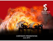 CORPORATE PRESENTATION June 2013 - ShaMaran Petroleum ...